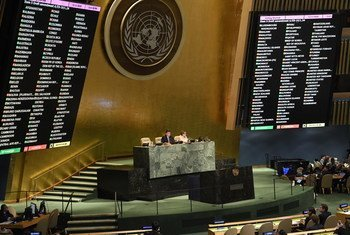 La Asamblea General de la ONU vota por la resolución para proteger a los civiles palestinos.
