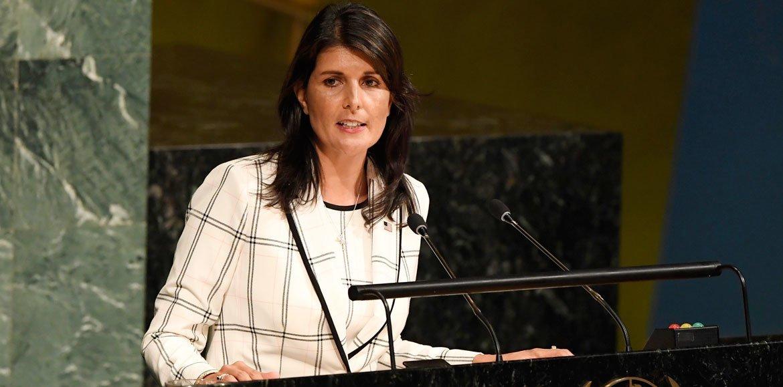 Постоянный представитель США Никки Хейли обвинила авторов резолюции в одностороннем подходе