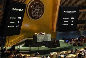联大通过决议 斥责以色列在巴勒斯坦被占领土上过度使用武力