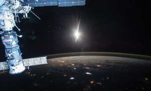 The breaking of dawn over planet Earth, seen from the International Space Station.