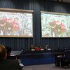 Crew of the International Space Station join UNISPACE+50, via video link, from 400 kilometers above the Earth's surface.