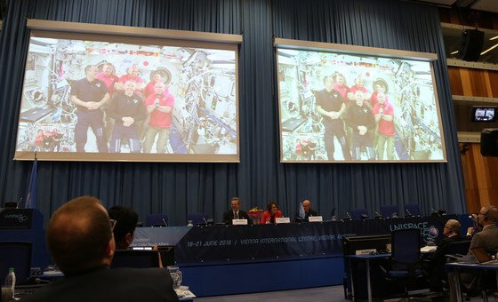 From low-earth orbit, 'envoys' of humanity join UN space forum