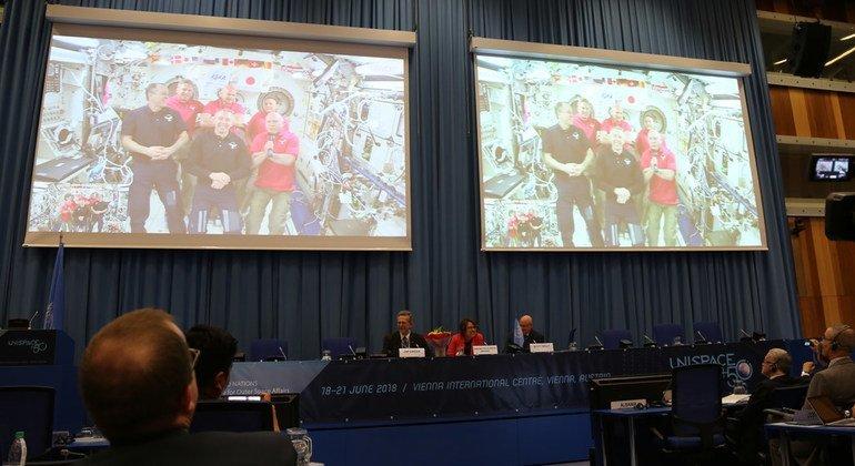 С орбиты – в зал заседаний ООН: экипаж космической станции поучаствовал в заседании