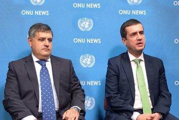Comandante operacional da GNR, tenente-general Rui Clero e o diretor nacional da PSP, superintendente chefe Luis Farinha.