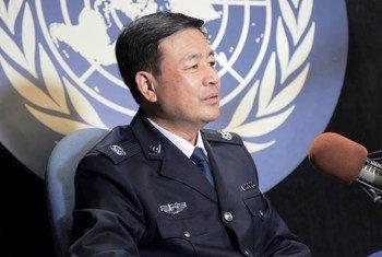 中国公安部常务副部长王小洪率团出席联合国第二届警察首脑峰会并接受联合国新闻的专访。