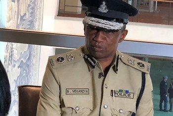 Kamishina wa operesheni na mafunzo wa jeshi la polisi Tanzania Nsanto Marijani Massanzya akiwa kwenye mkutano wa UNCOPS
