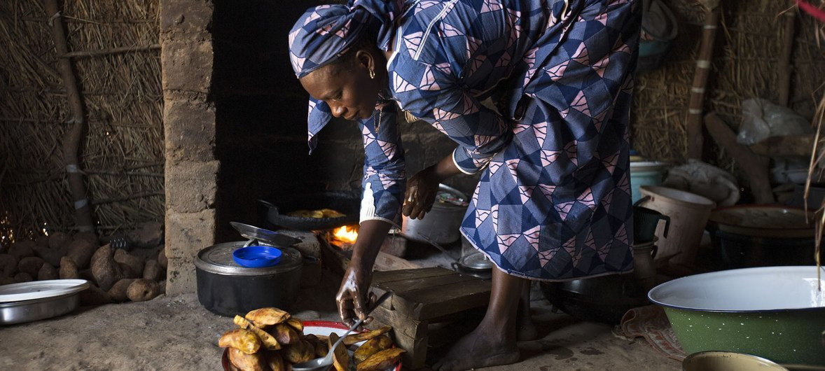A 38-year-old widow who lost her husband in the Central African Republic war escaped to the Ngam refugee site in the Adamawa region of Cameroon with her five children; one of whom recently died.