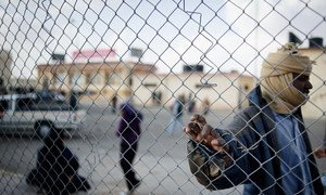 Un Tchadien à Sallum à la frontière égyptienne. Il a fui le conflit en Libye, où l'instabilié affecte les pays voisins (archives).