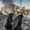 Civiles en Mosul, Iraq después de un ataque con un camión bomba.