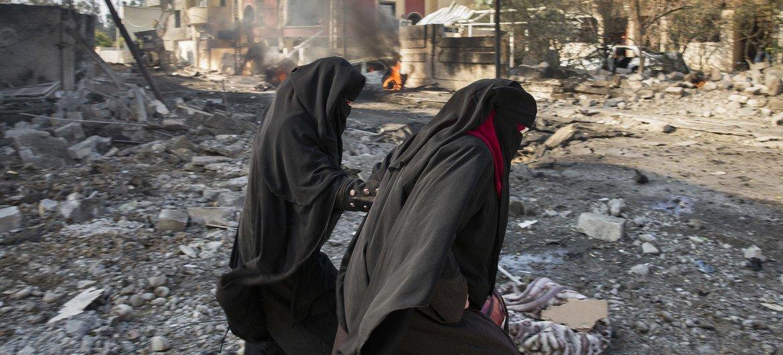Mossul, no Iraque, após um ataque suicida.