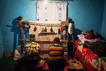 Carpet weaving is a traditional art in Azerbaijan.