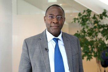 John Njoroge Kimani, Lead Scientist and Coordinator at the Kenya Space Agency at UNISPACE+50 in Vienna, Austria.