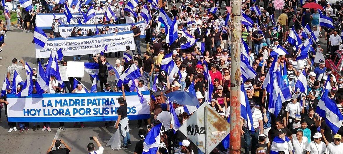 Miles de personas han protestado contra el Gobierno de Nicaragua desde abril.