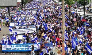 Thousands of Nicaraguans have protested since April. More than a hundred people have died in clashes with authorities.