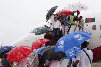 António Guterres chega ao distrito de Cox's Bazar que é afetado por fortes chuvas de monção.