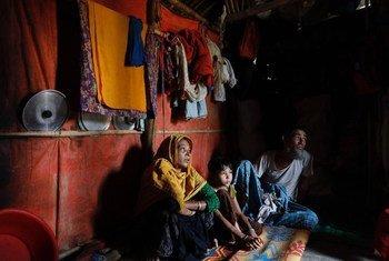 Des réfugiés rohingyas dans un camp à Cox's Bazar, au Bangladesh.