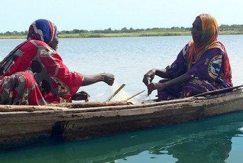 Sur le lac Tchad, des pêcheuses travaillent dur pour subvenir aux besoins de leurs familles.