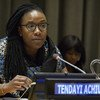 E. Tendayi Achiume, Special Rapporteur on racism, xenophobia and related intolerance at United Nations Headquarters in New York on 21 February 2018.
