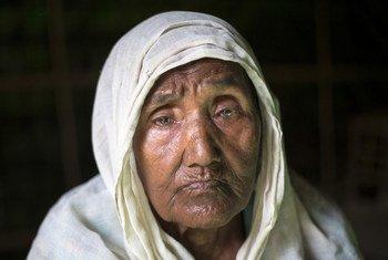 Gul Zahar, 90, Rohingya refugee in Bangladesh.
