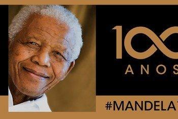Reprodução de cartaz impresso pelas Nações Unidas para marcar o Dia de Nelson Mandela, 18 de julho de 2018.