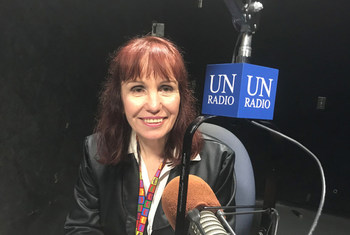 Irena Zubcevic of the UN Department of Economic and Social Affairs speaks to UN News about the Voluntary National Reviews at the High-Level Political Forum on sustainable development, 9 July 2018.