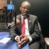 Balozi Celestine Mushi, Mkurugenzi wa Idara ya ushirikiano wa kimataifa katika Wizara ya Mambo ya Nje na Ushirikiano wa Kimataifa ya Tanzania akihojiwa na UN News kando ya mkutano wa ngazi ya juu wa kutathmini SDGs jijini New York, Marekani.