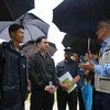 Under-Secretary-General for Humanitarian Affairs and Emergency Relief Coordinator, Mark Lowcock (right), visits the Kumchon Cooperative Farm  (supported by FAO) in Unryul County, South Hwanghae Province, Democratic People's Republic of Korea.