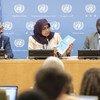 Bi Maimunah Mohd Sharif, Mkurugenzi Mtendaji wa shirika la Umoja wa Mataifa kuhusu makazi (UN-habitat) akizungumza na wandishi habari katika makao makuu ya UN.