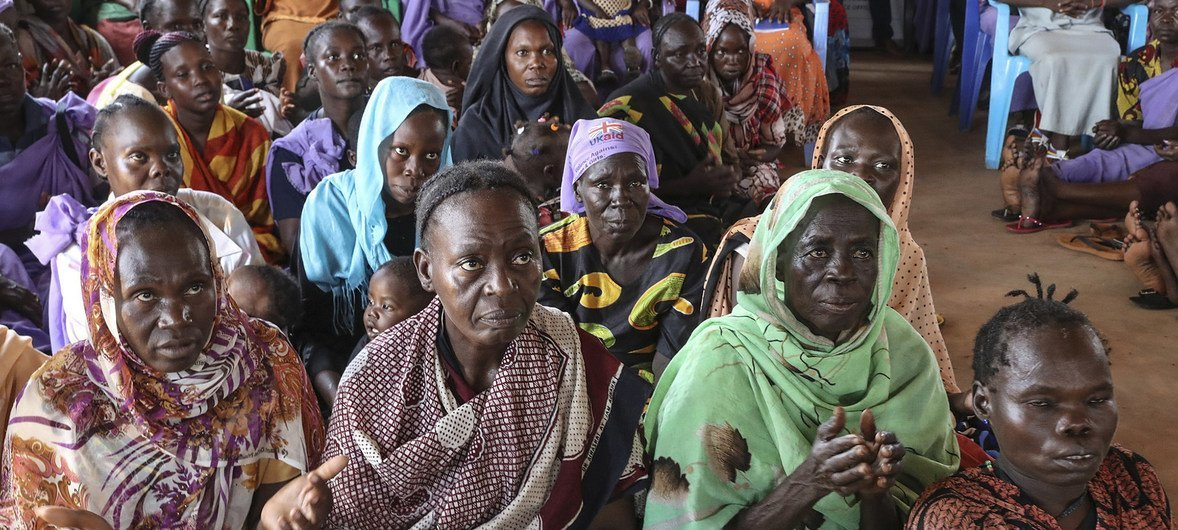 Women who have survived brutal violence during conflict in South Sudan shared their stories with a visiting delegation headed by UN Deputy Secretary-General Amina Mohammed, 3 July 2018.