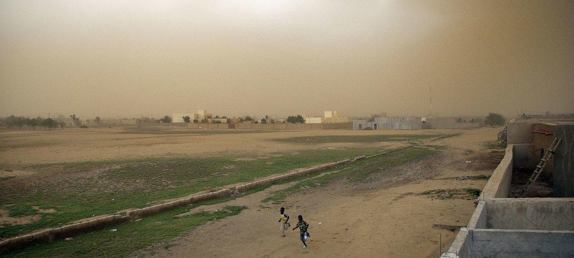 马里发生沙尘暴。