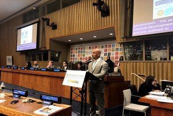عبد الله لوتاه المدير العام للهيئة الاتحادية للتنافسية والإحصاء، ونائب رئيس اللجنة الوطنية لأهداف التنمية المستدامة في دولة الإمارات، خلال حديثه في المنتدى السياسي رفيع المستوى لأهداف التنمية المستدامة المنعقد بمقر الأمم المتحدة في نيويورك.