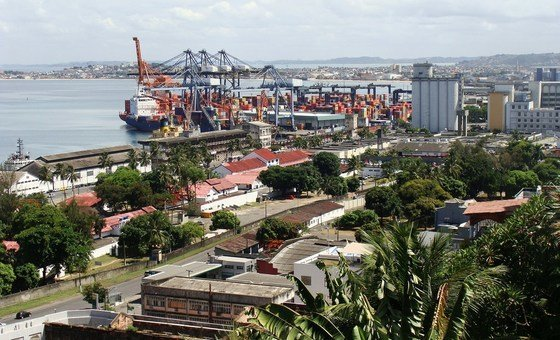 The Port of Salvador on All Saints Bay, Bahia, Brazil. As one of the bigger, emerging economies reliant on commodity exports, Brazil can expect some economic improvement, according to a United Nations Conference on Trade and Development (UNCTAD) report.