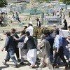 Funérailles d'un civil tué dans une attaque suicide à Kaboul, en Afghanistan, en juin 2018.