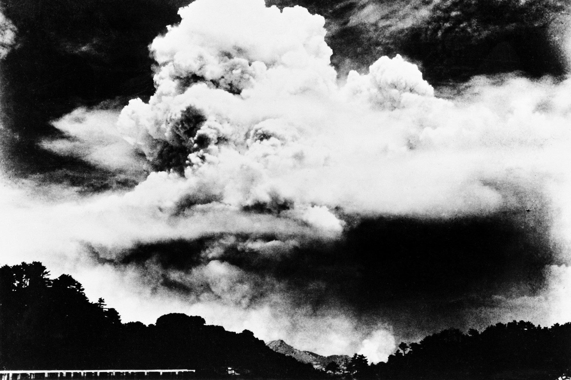 Ядерное облако над Нагасаки 9 августа 1945 г.