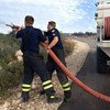 丹麦消防员与联合国驻黎巴嫩临时部队共同扑灭黎巴嫩的一处森林火灾。