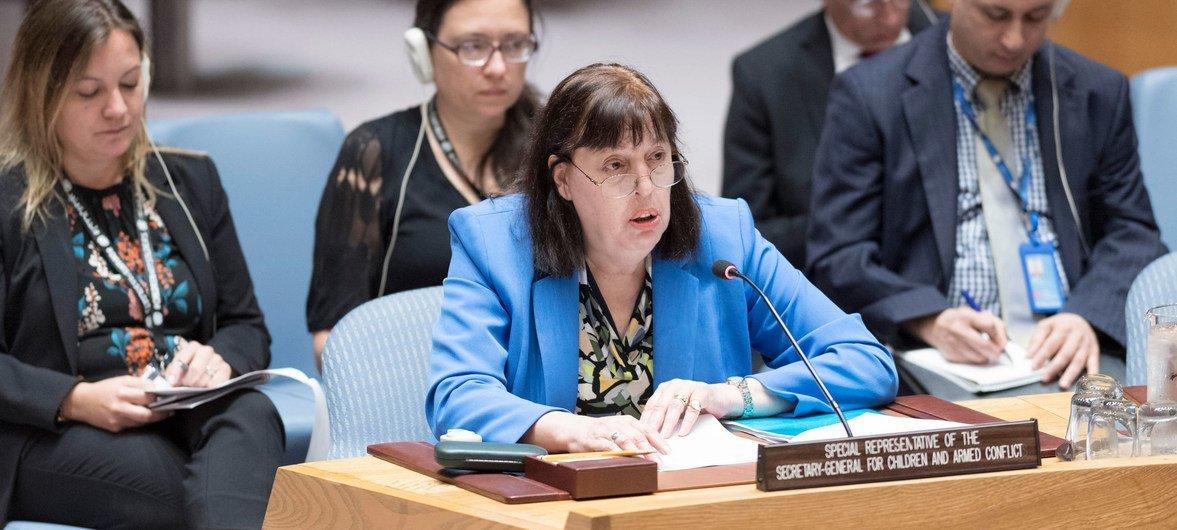 Representante especial do secretário-geral para Crianças e Conflito Armado, Virginia Gamba.