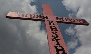 Las cruces rosadas representan en México a las víctimas de feminicidio.