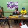 Mvulana wa miaka 19 akijiandikisha kupiga kura kwa mara ya kwanza kutumia teknolojia mpya ya kunasa taarifa za mpiga kura katika kituo cha Mbare, mjini Harare, Zimbabwe.