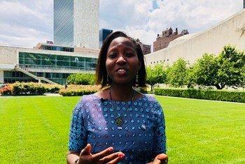 Judith Kitinga kijana wa kujitolea katika shirika la kiraia la Restless Development nchini Tanzania akihojiwa na UN News kandoni mwa kikao cha juu cha SDGs, kwenye UM