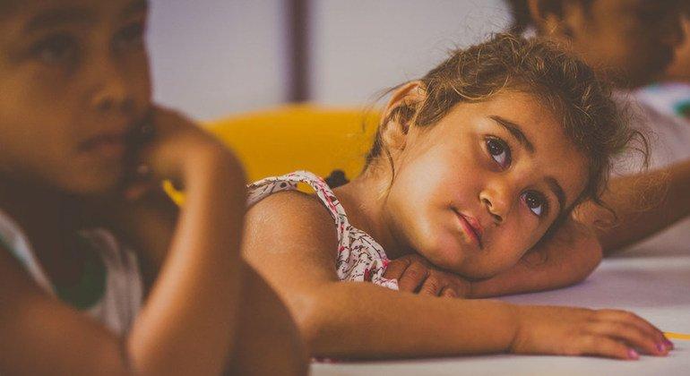 Niña en la escuela en el estado de Bahía, en el noreste de Brasil.