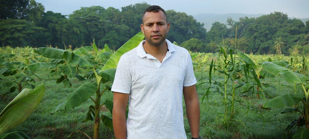 Marcos Martínez, el administrador de la Granja Nueva Colombia
