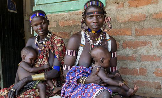 Des autochtones du Soudan du Sud.
