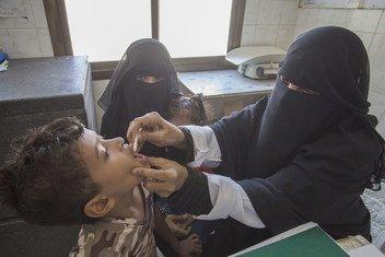 Utoaji wa chanjo dhidi ya kipindupindu mjini Aden, nchini Yemen.
