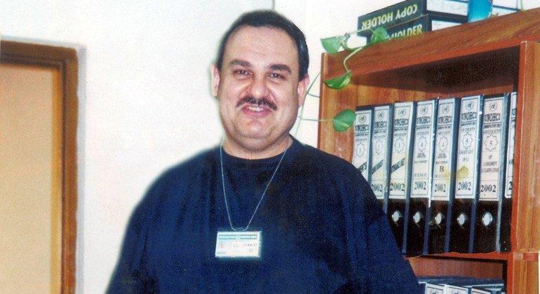 Esam Al-Khanchi pictured working in Baghdad, Iraq.