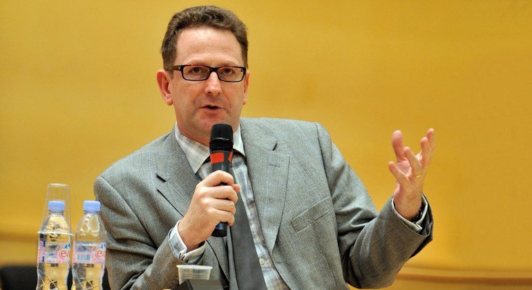 Andrew Clapham speaks during the open day at the Palais of United Nations in Geneva (October 2008).