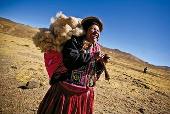 Santa Francisca Manzano is an indigenous woman from the high Andean pastures of Peru.