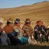 Watu wa asili wa Nunou Puno Peru.