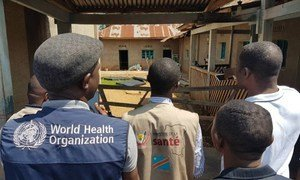 A WHO team in the Democratic Republic of the Congo in response to ebola outbreak.