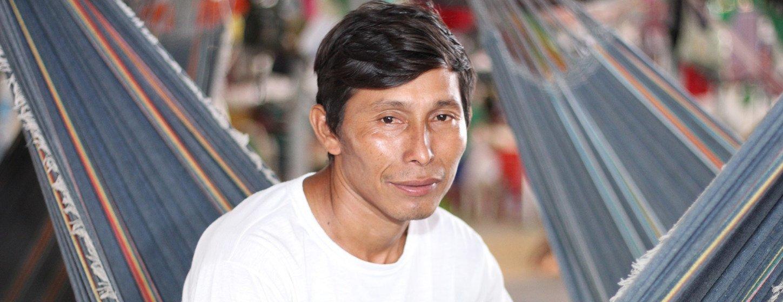 Eligio Tejerina, líder comunitário Warao no Abrigo Pintolandia em Boa Vista, norte do Brasil
