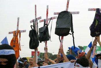 Cientos de personas tomaron las calles de Managua en agosto de 2018 exigiendo justicia para las víctimas que sufrieron la represión durante las protestas.
